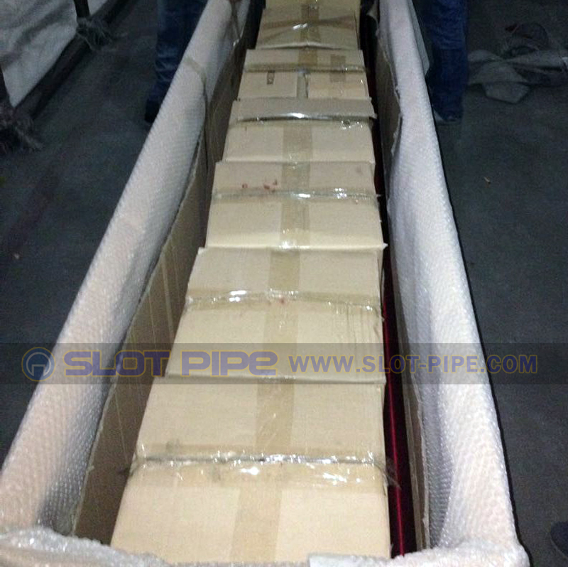 Slot Tube shipped with fittings Packing